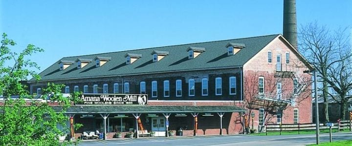 Amana Woolen Mill building exterior