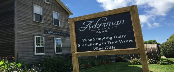 Ackerman Winery sign and building