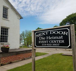 Next Door Die Heimat Event Center sign